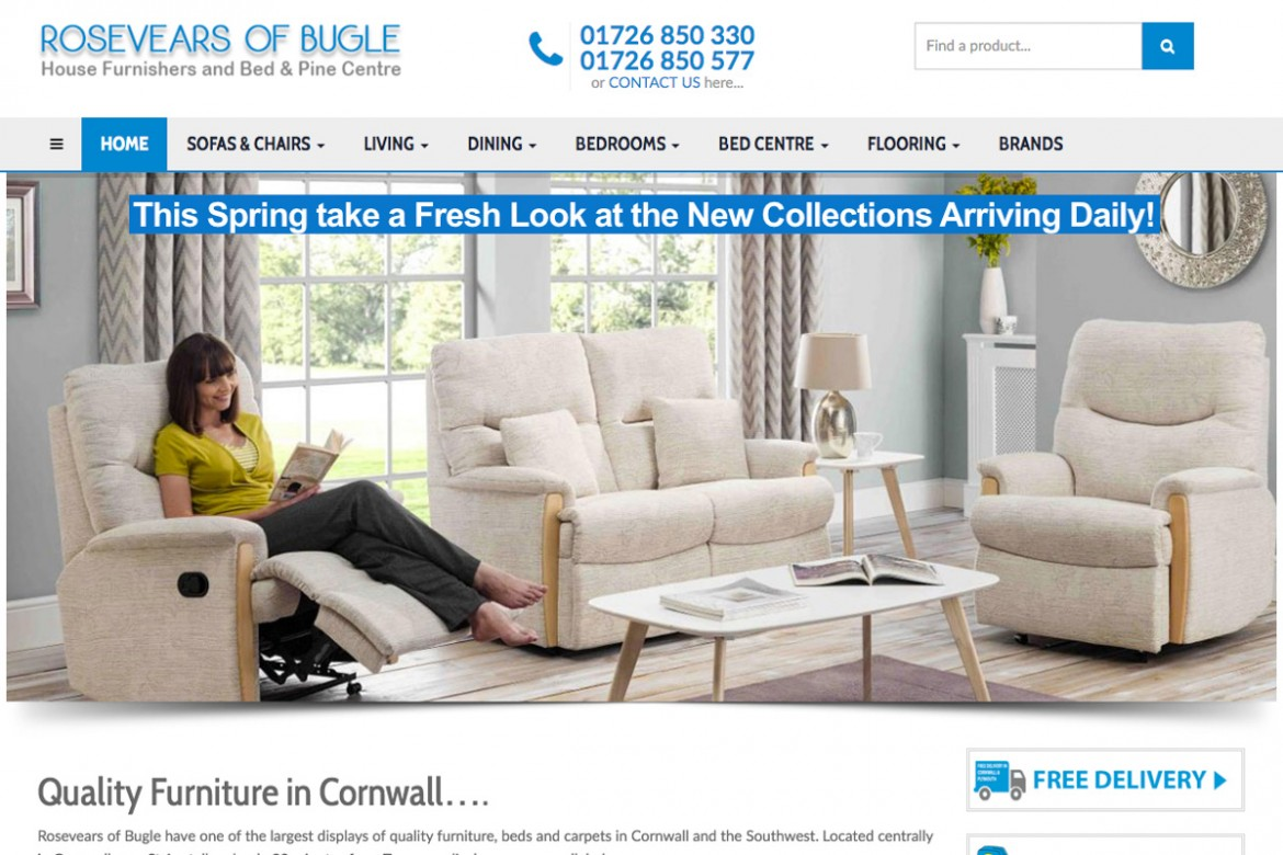 Furniture in Cornwall at Rosevears of Bugle