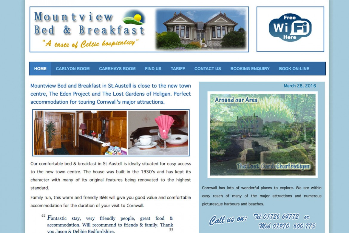 Bed and Breakfast in St.Austell