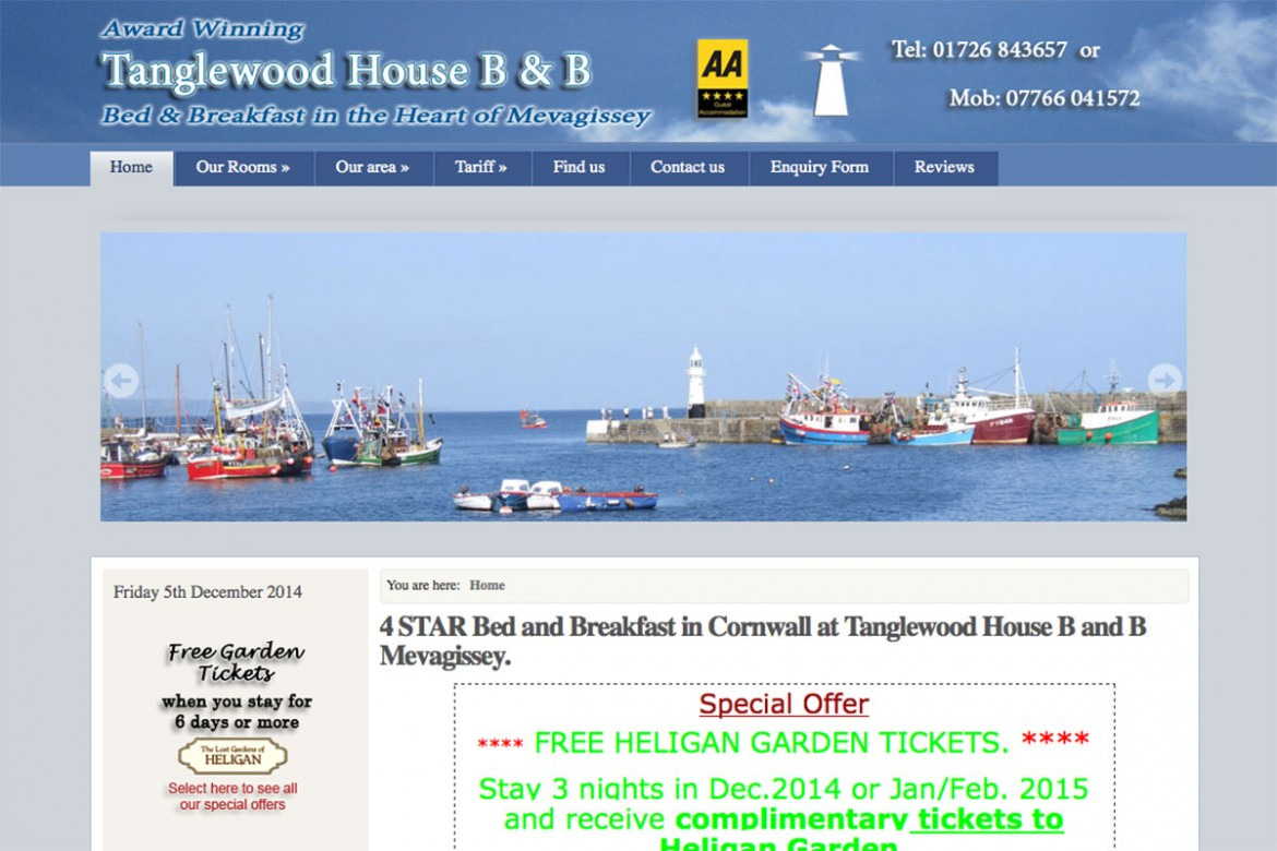 Bed and Breakfast in Mevagissey